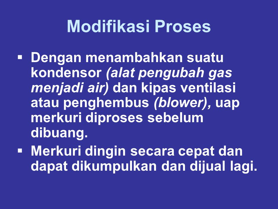 Modifikasi Proses
