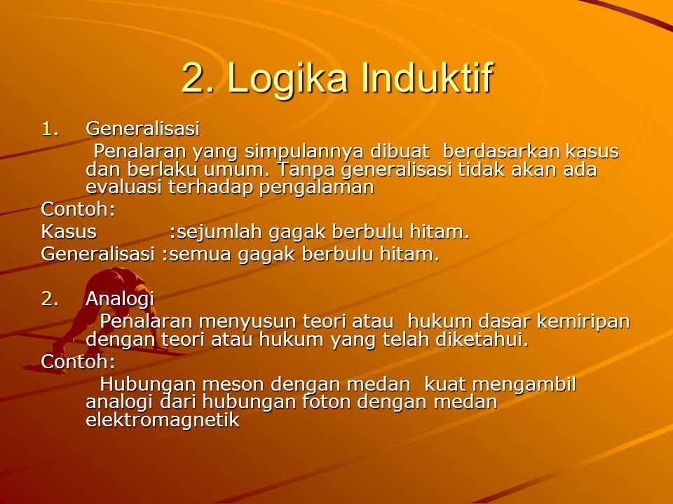 2. Logika Induktif Generalisasi