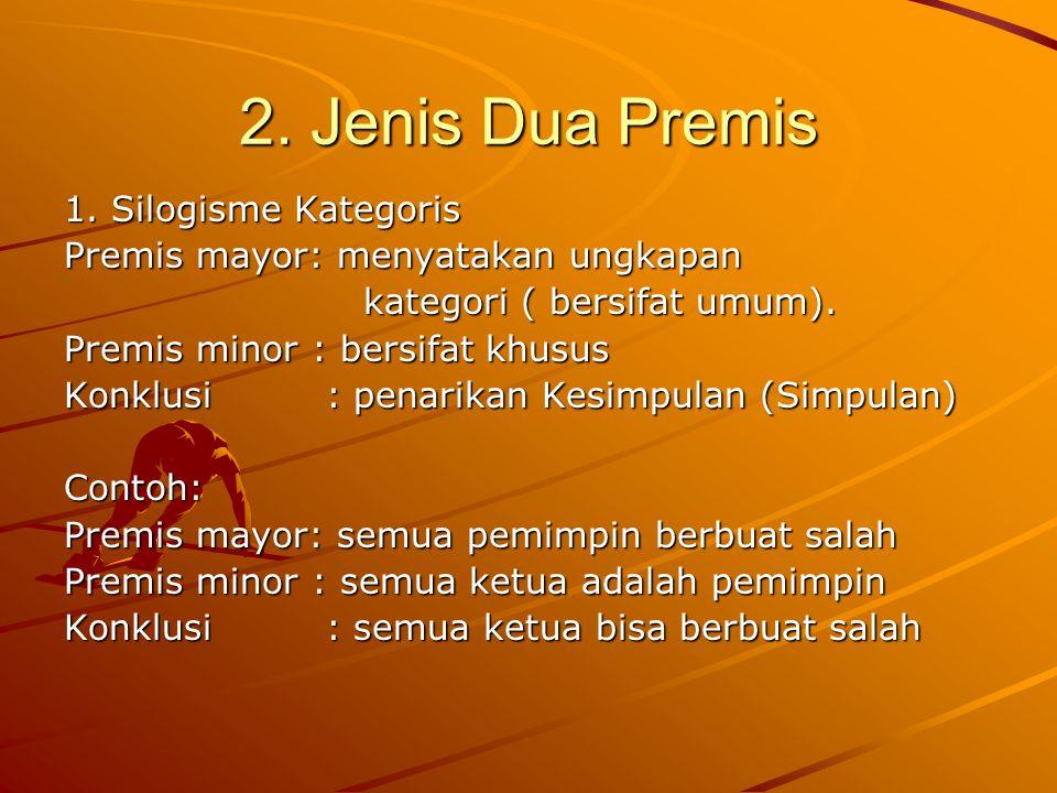 2. Jenis Dua Premis 1. Silogisme Kategoris
