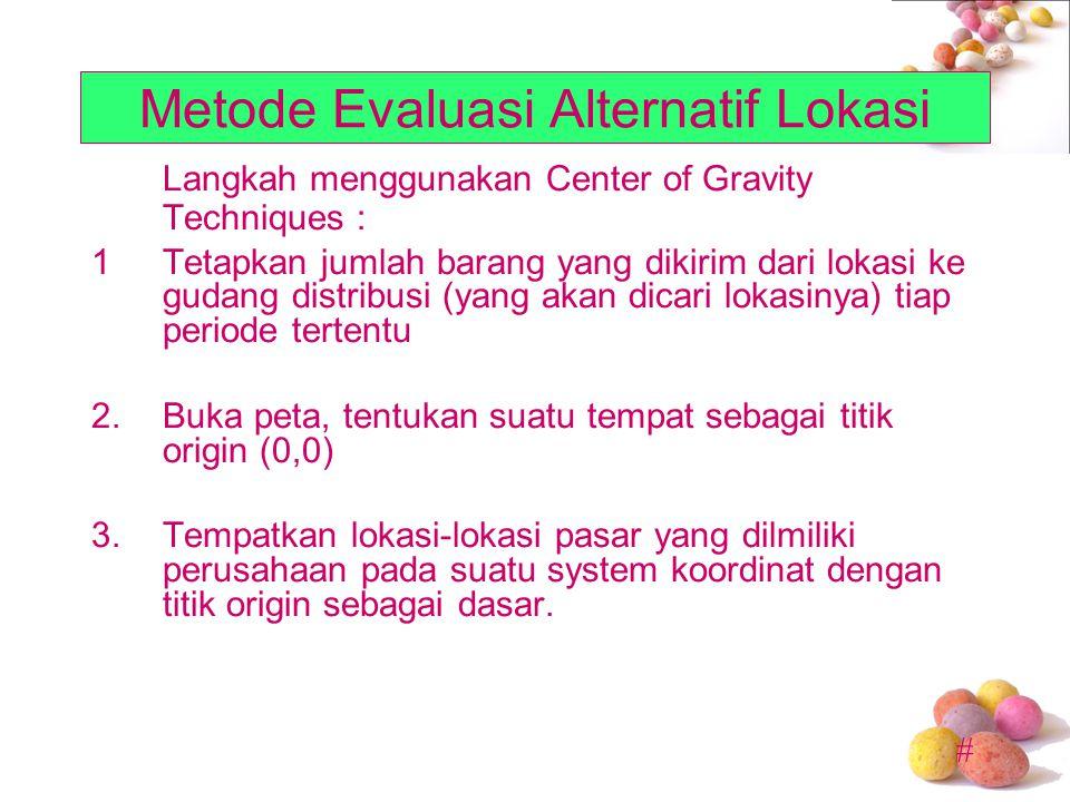 Metode Evaluasi Alternatif Lokasi