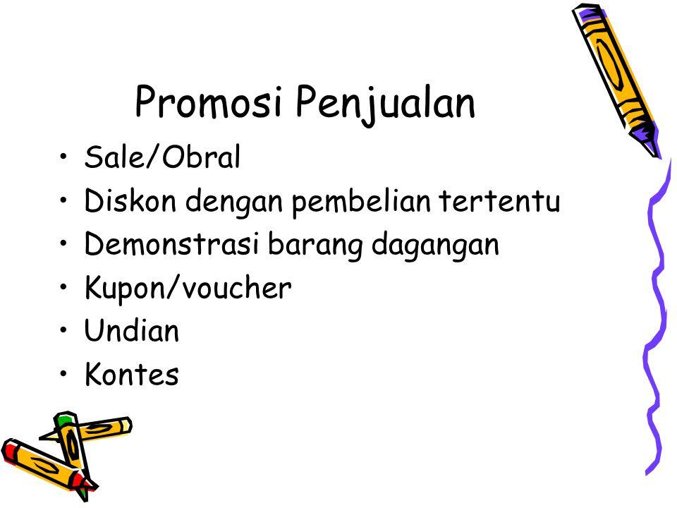 Promosi Penjualan Sale/Obral Diskon dengan pembelian tertentu