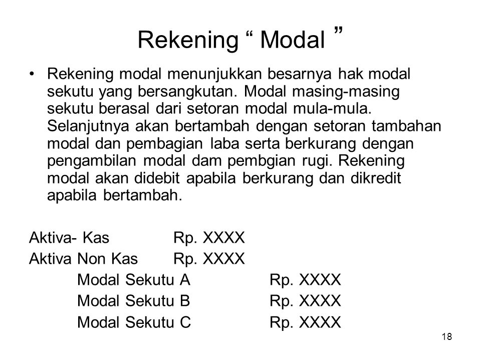 Rekening Modal