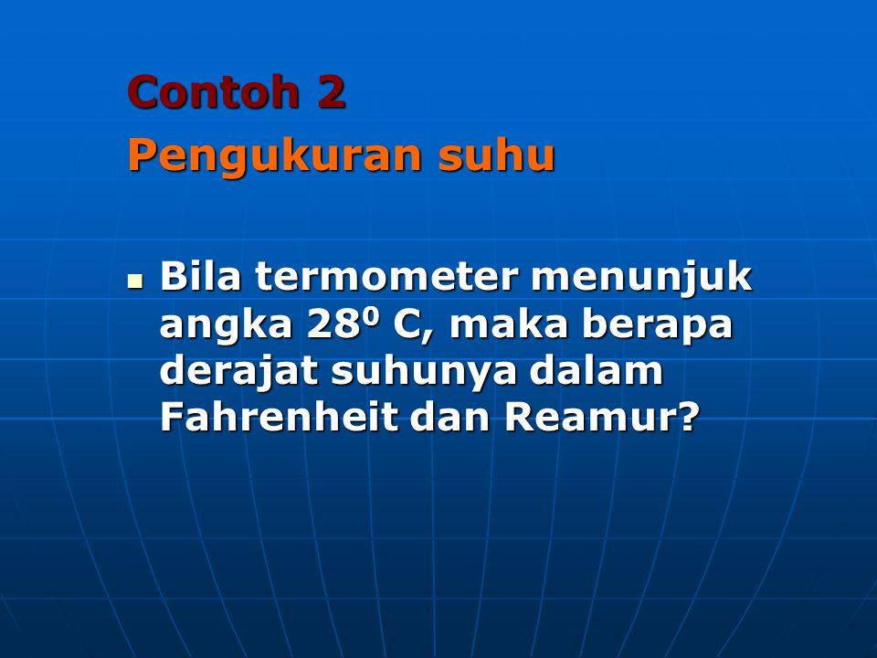 Contoh 2 Pengukuran suhu