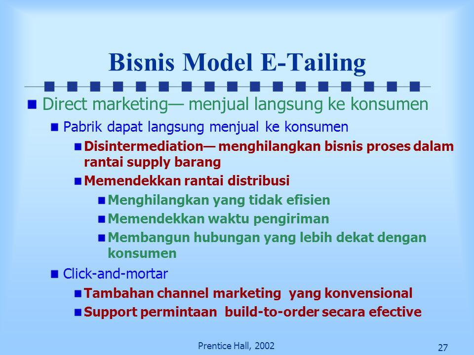 Bisnis Model E-Tailing