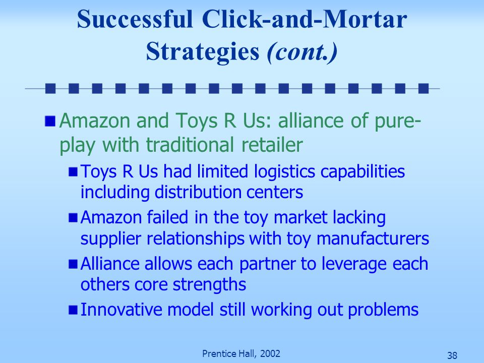Successful Click-and-Mortar Strategies (cont.)