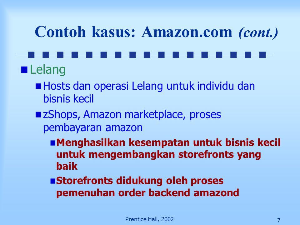 Contoh kasus: Amazon.com (cont.)