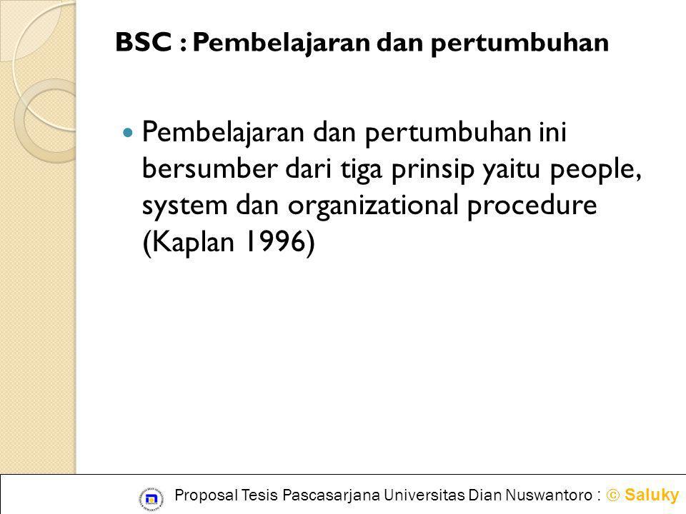 BSC : Pembelajaran dan pertumbuhan