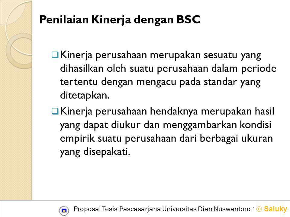 Penilaian Kinerja dengan BSC