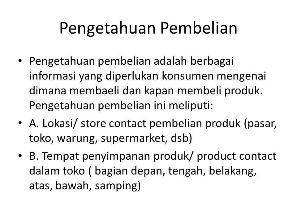 Pengetahuan Pembelian