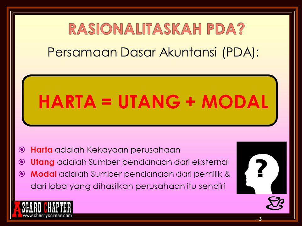Persamaan Dasar Akuntansi (PDA):