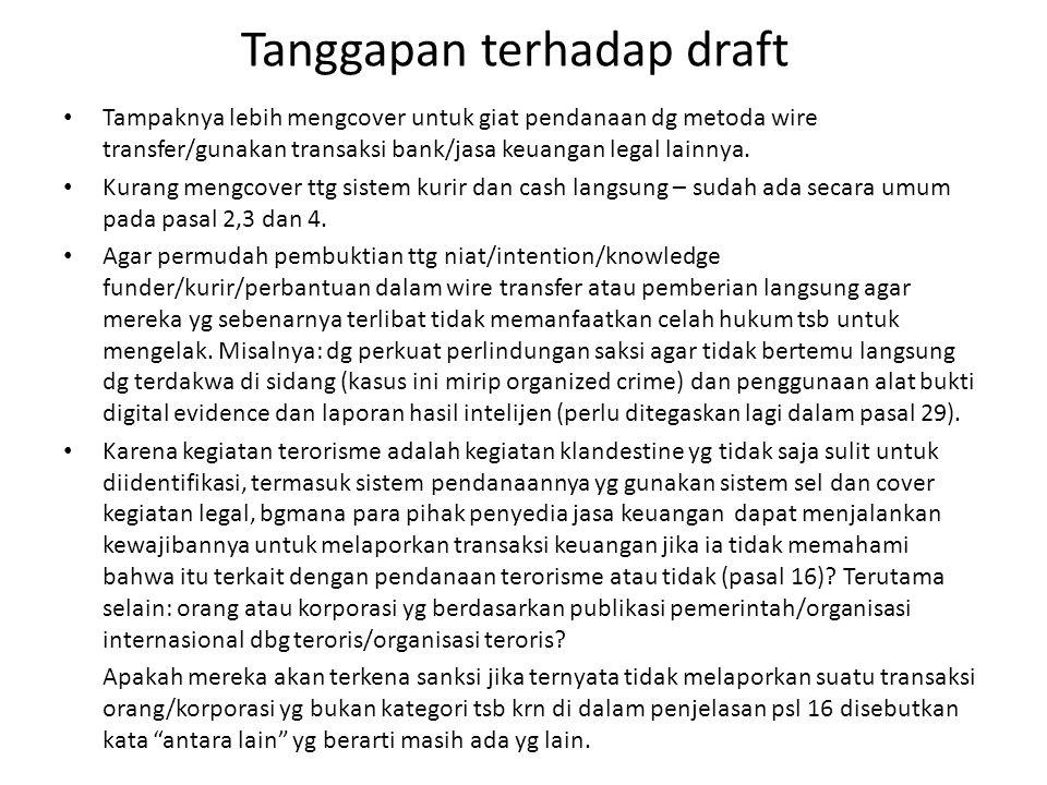 Tanggapan terhadap draft