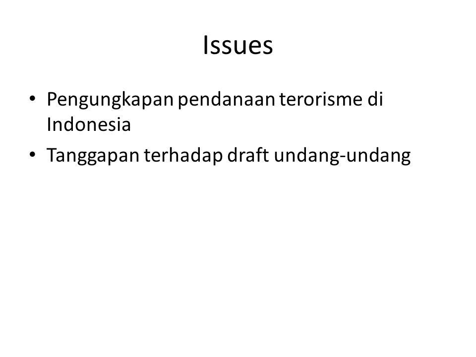 Issues Pengungkapan pendanaan terorisme di Indonesia
