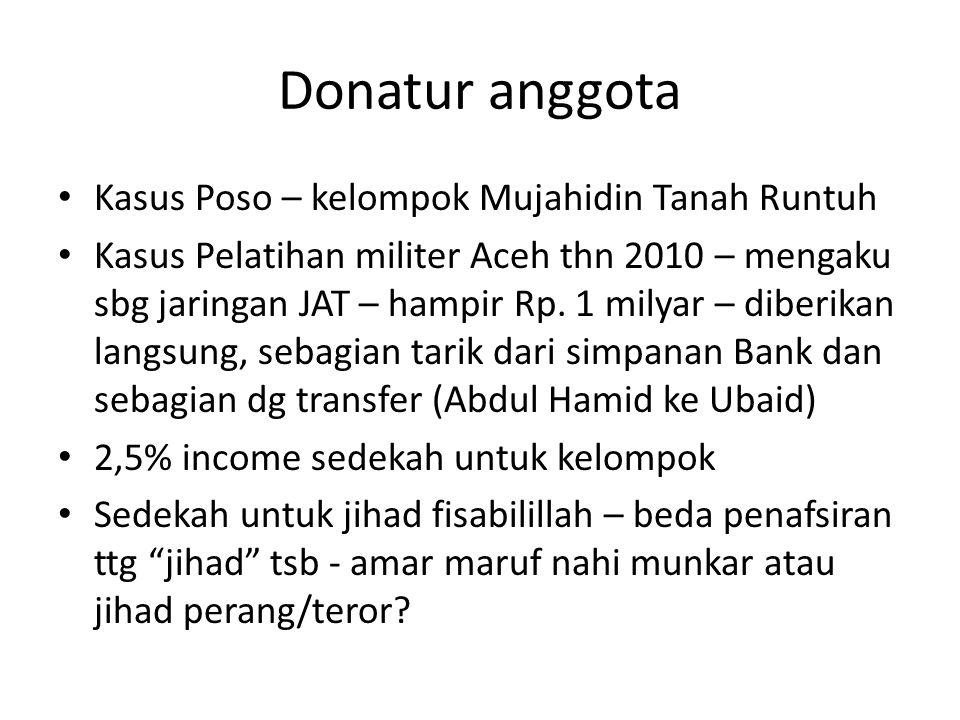 Donatur anggota Kasus Poso – kelompok Mujahidin Tanah Runtuh