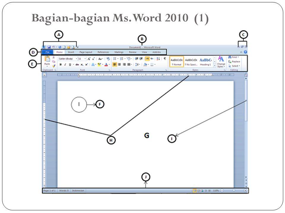 Bagian-bagian Ms. Word 2010 (1)