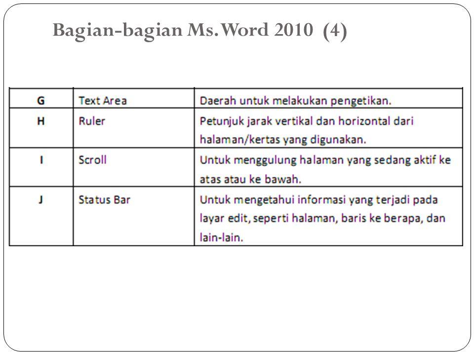 Bagian-bagian Ms. Word 2010 (4)