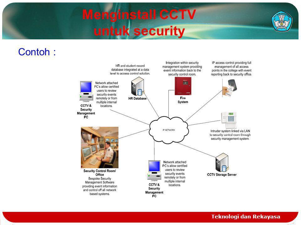 Menginstall CCTV untuk security