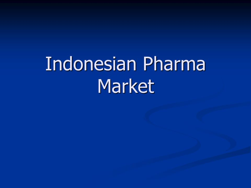 Indonesian Pharma Market