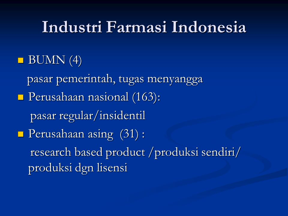 Industri Farmasi Indonesia