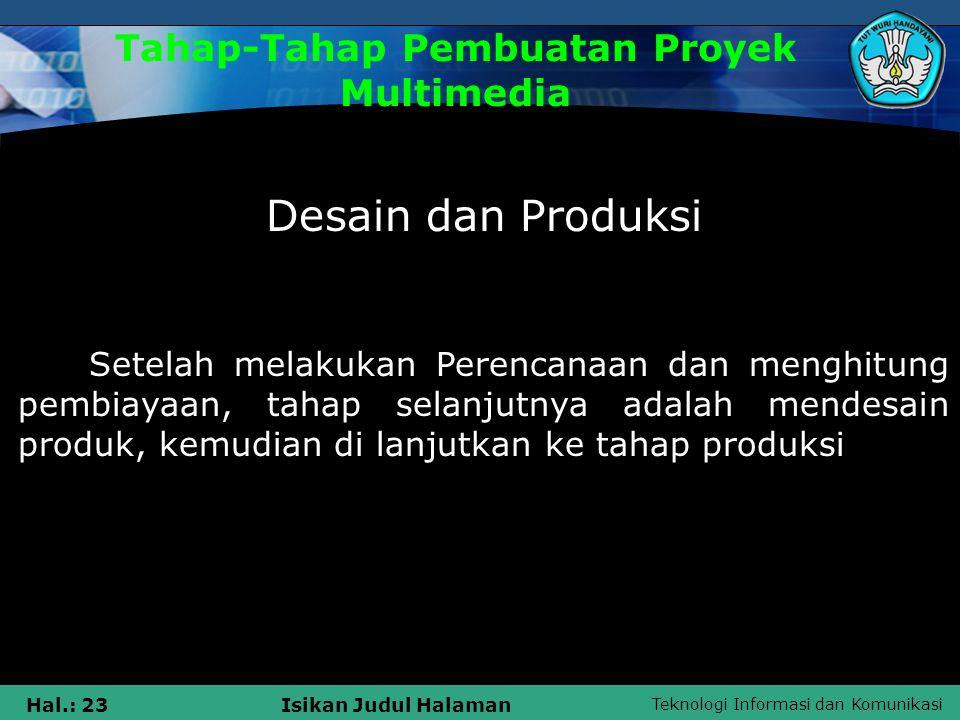Tahap-Tahap Pembuatan Proyek Multimedia
