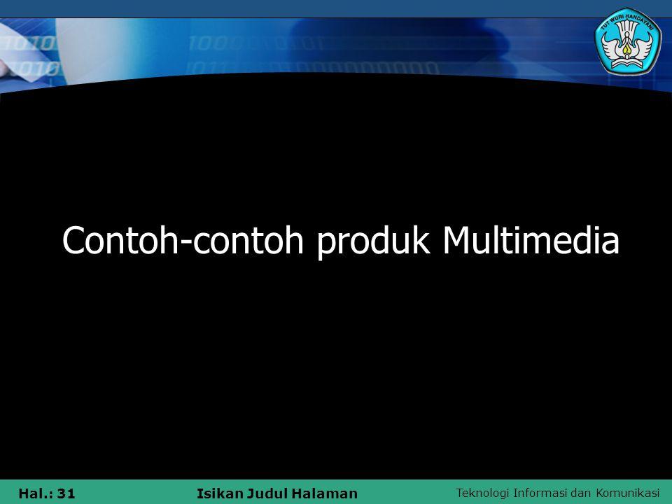 Contoh-contoh produk Multimedia