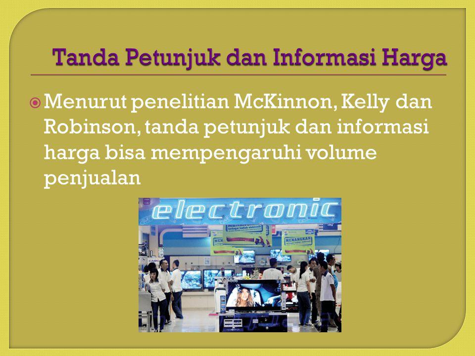 Tanda Petunjuk dan Informasi Harga