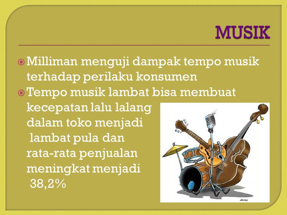 MUSIK Milliman menguji dampak tempo musik terhadap perilaku konsumen