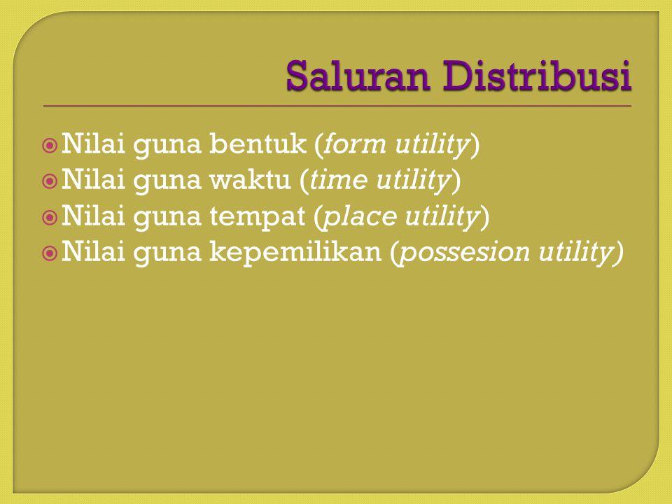 Saluran Distribusi Nilai guna bentuk (form utility)