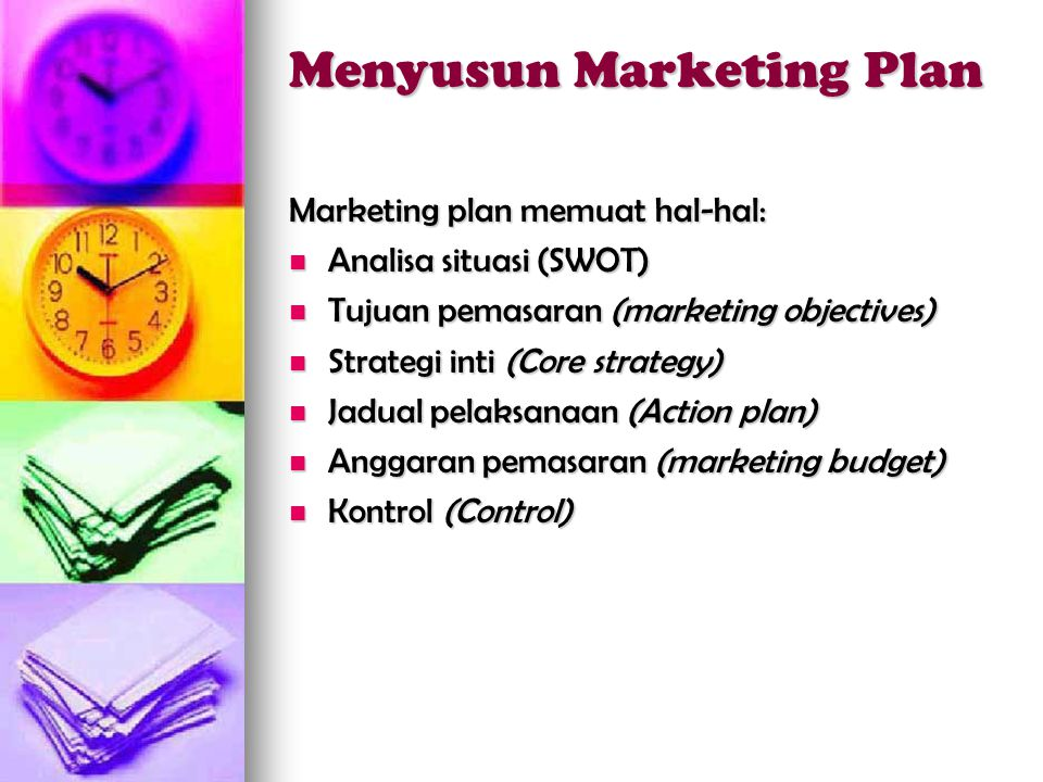 Menyusun Marketing Plan