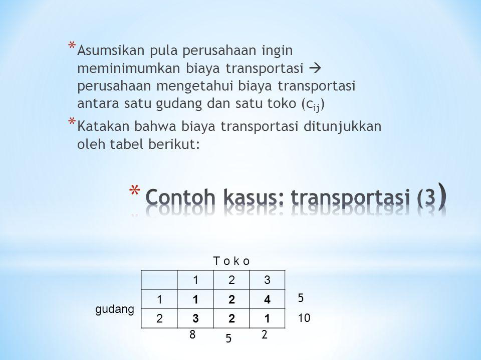Contoh kasus: transportasi (3)