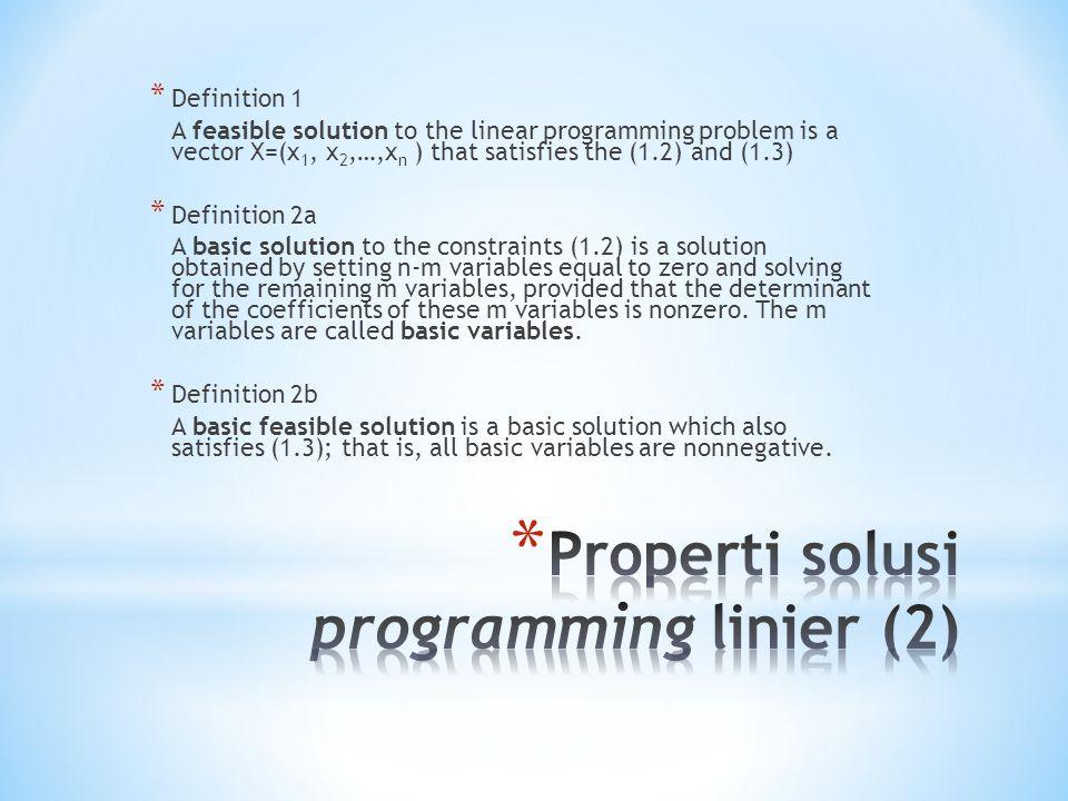 Properti solusi programming linier (2)