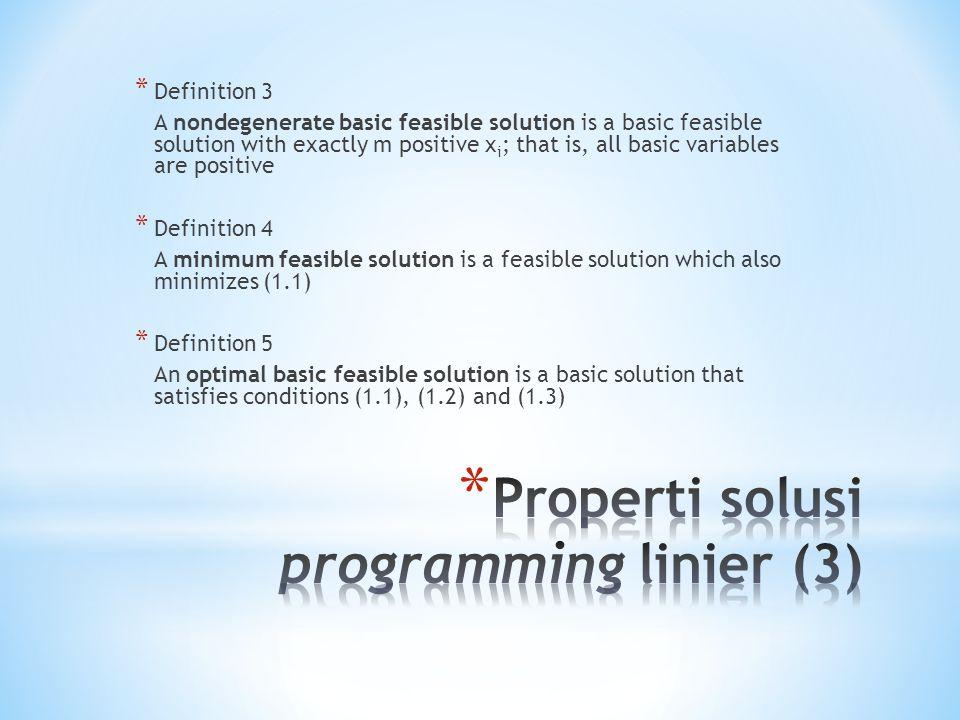 Properti solusi programming linier (3)