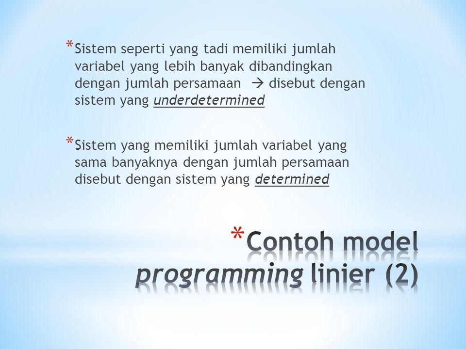 Contoh model programming linier (2)