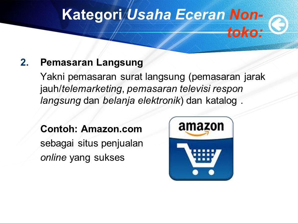 Kategori Usaha Eceran Non-toko: