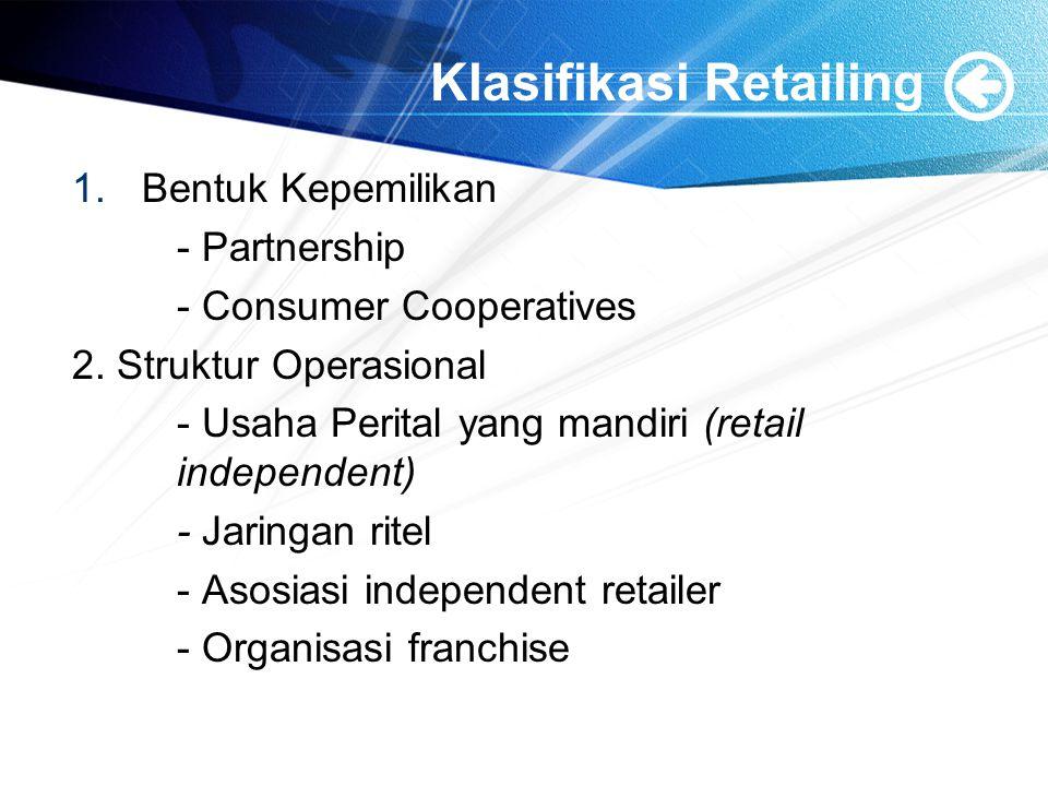 Klasifikasi Retailing