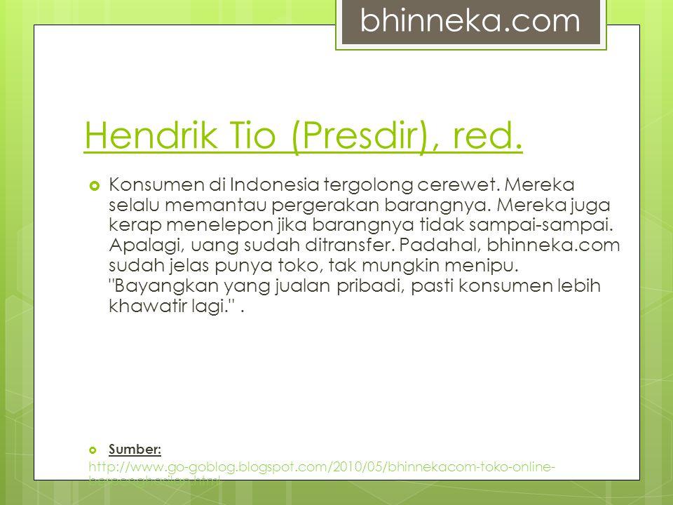 Hendrik Tio (Presdir), red.