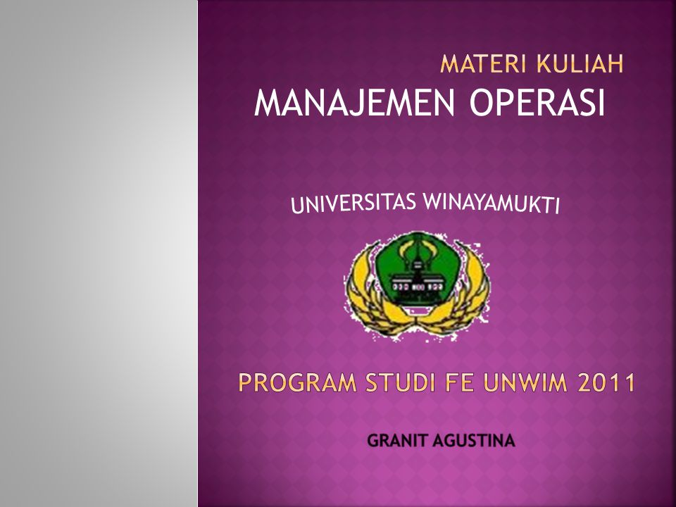 UNIVERSITAS WINAYAMUKTI