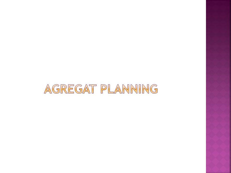 Agregat planning