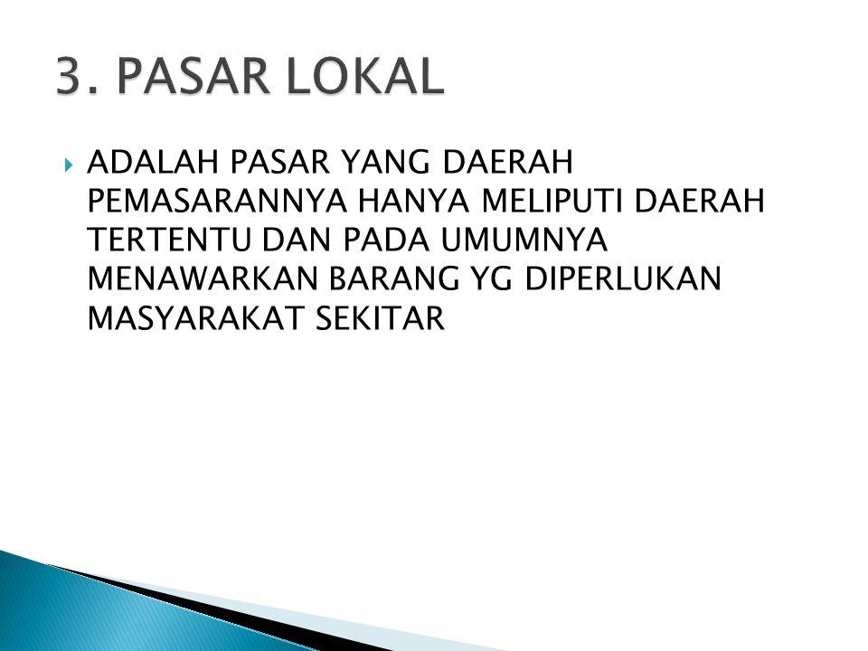 3. PASAR LOKAL