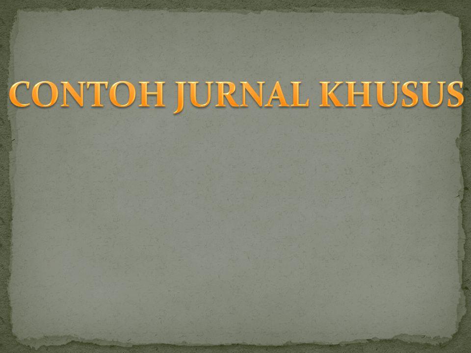 CONTOH JURNAL KHUSUS