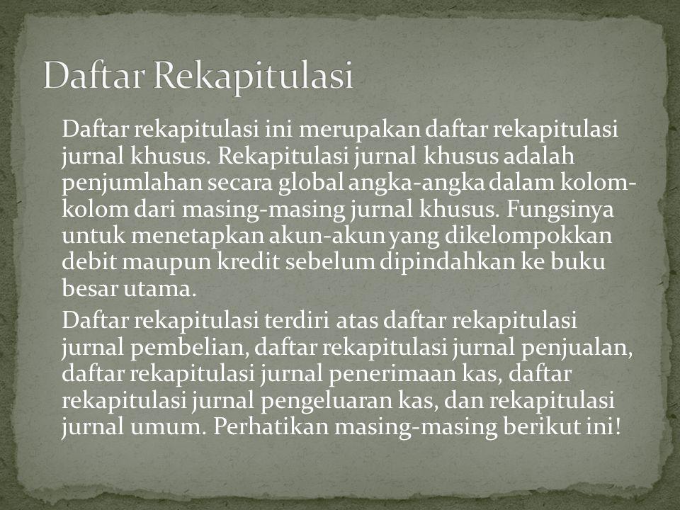 Daftar Rekapitulasi