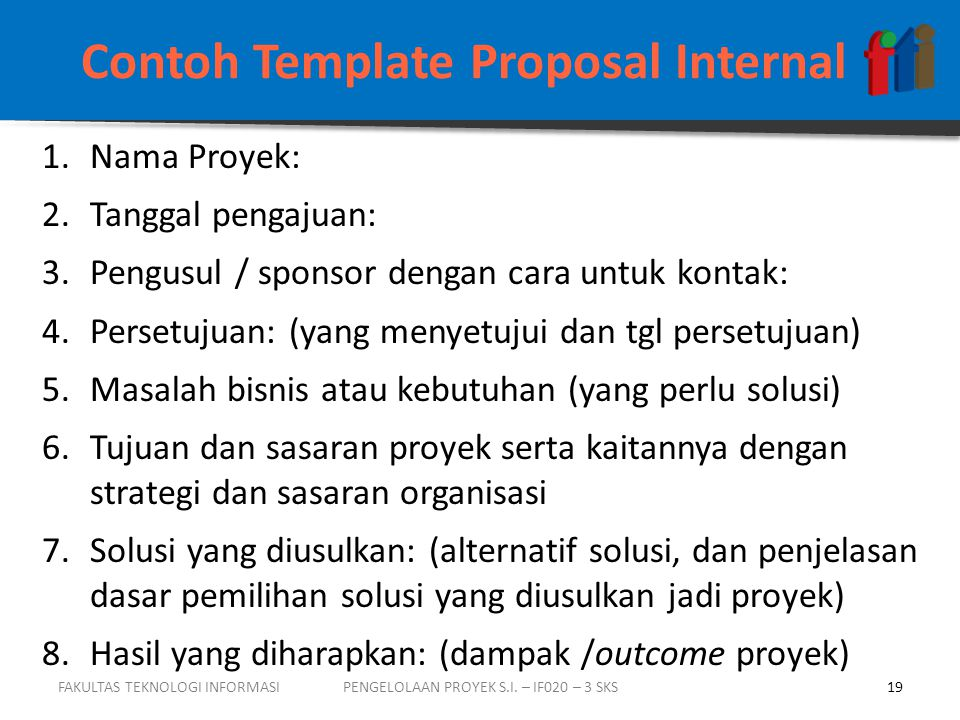 Contoh Template Proposal Internal