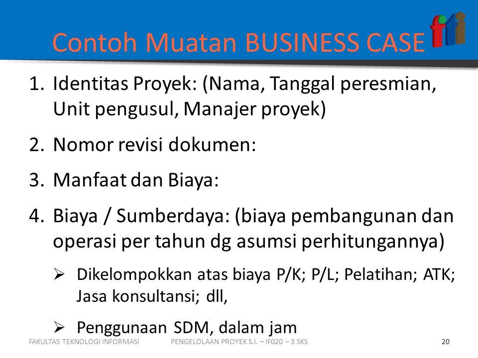 Contoh Muatan BUSINESS CASE