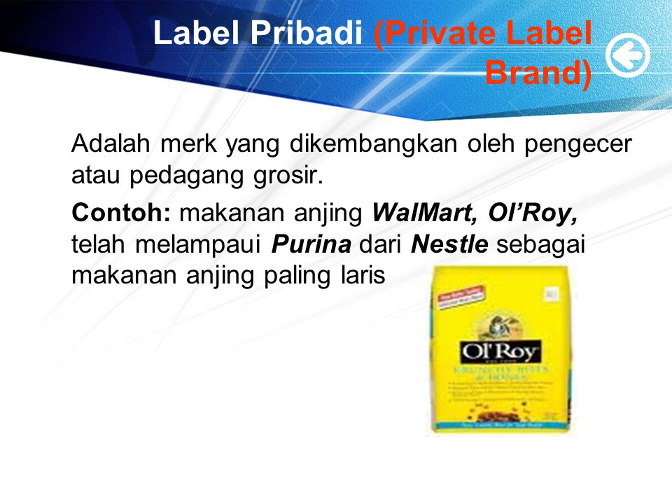 Label Pribadi (Private Label Brand)