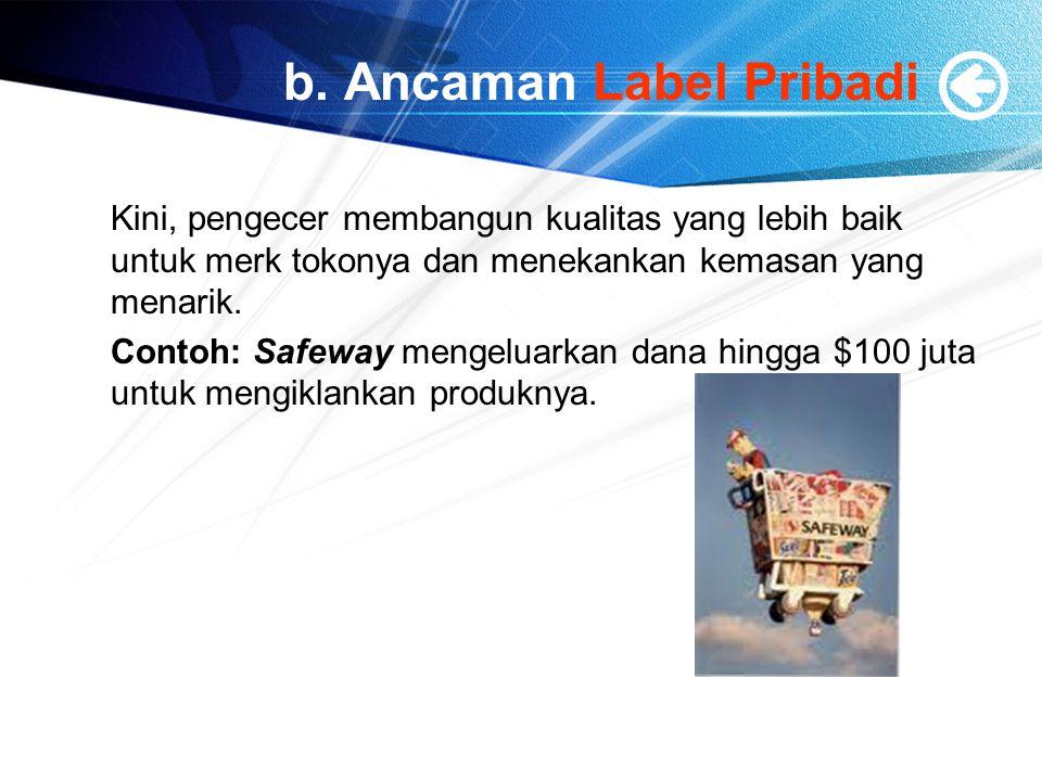 b. Ancaman Label Pribadi