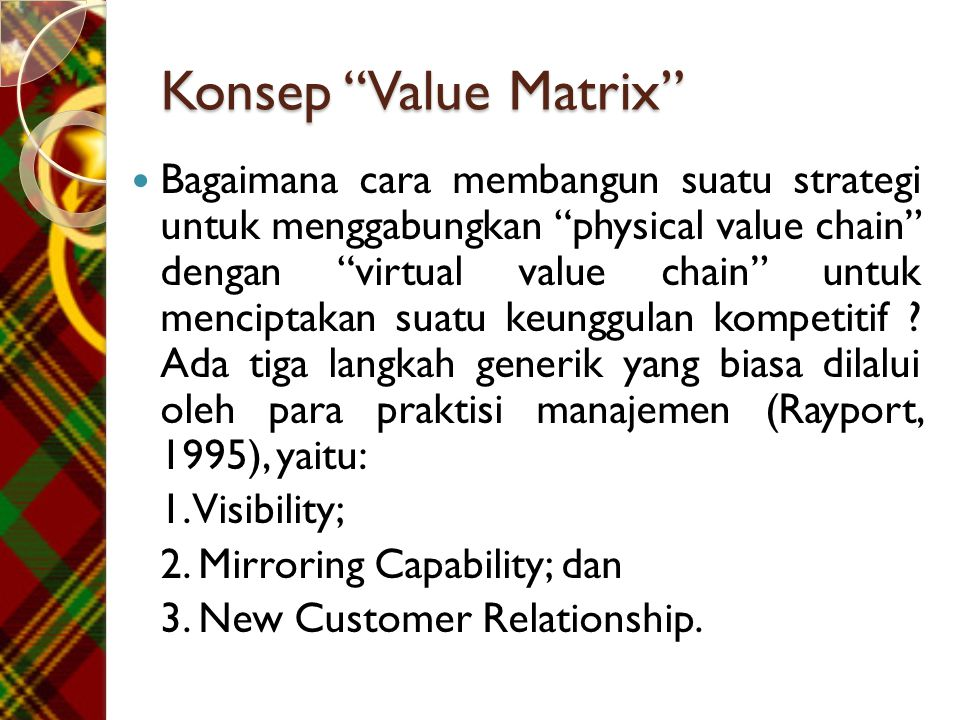 Konsep Value Matrix