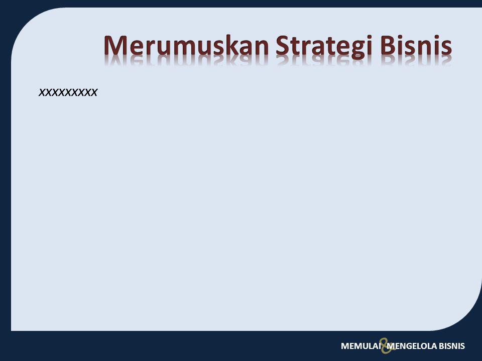 Merumuskan Strategi Bisnis