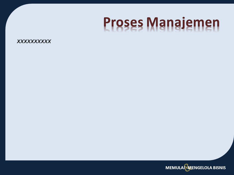 Proses Manajemen xxxxxxxxxx