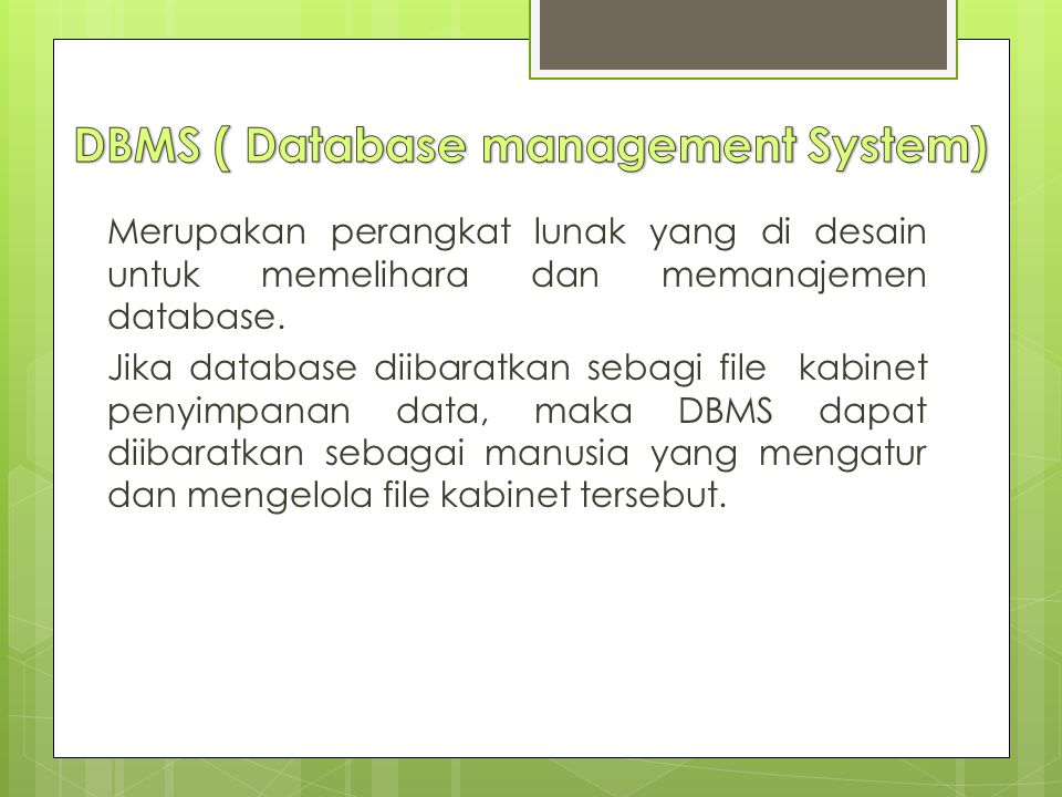 DBMS ( Database management System)
