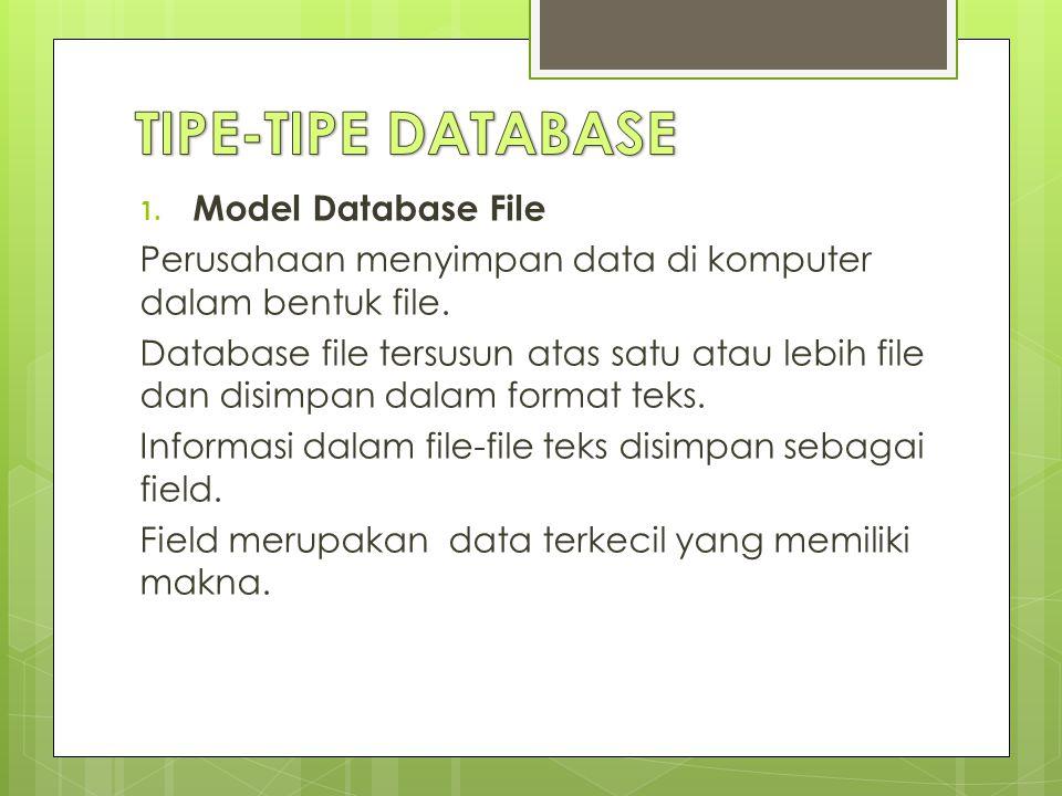 TIPE-TIPE DATABASE Model Database File
