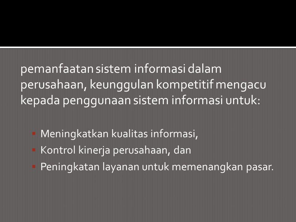pemanfaatan sistem informasi dalam
